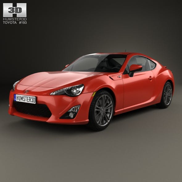 Toyota GT 86 with HQ interior 2013 - 3DOcean Item for Sale