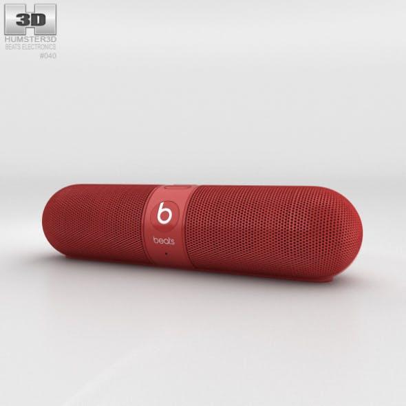 Beats Pill 2.0 Wireless Speaker Red - 3DOcean Item for Sale