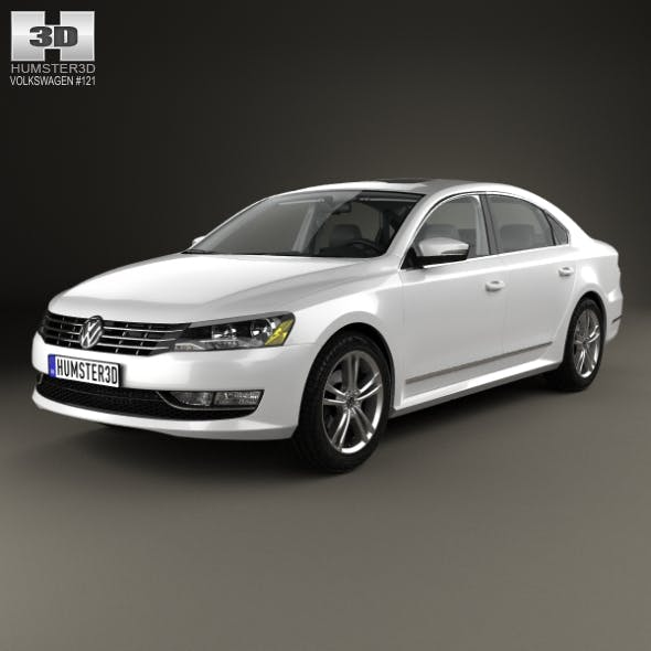 Volkswagen Passat (B7) with HQ interior 2011 - 3DOcean Item for Sale