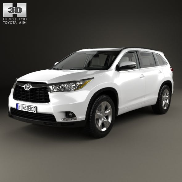 Toyota Highlander with HQ interior 2014 - 3DOcean Item for Sale