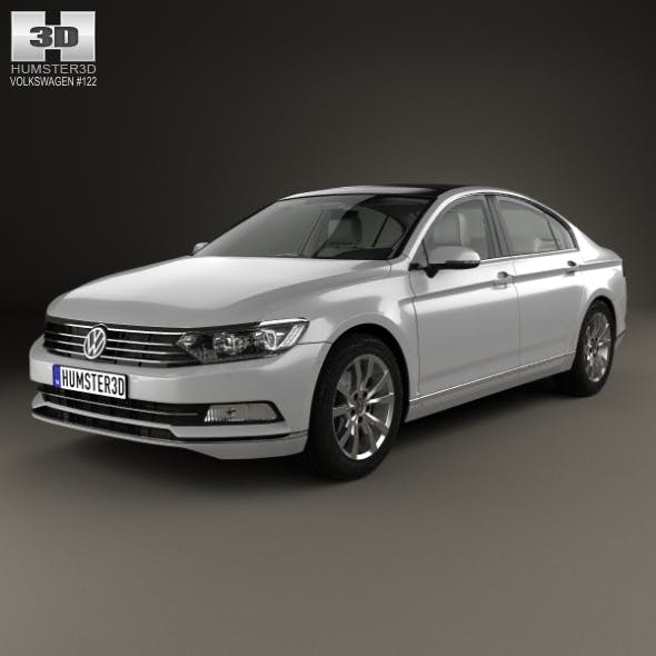 Volkswagen Passat (B8) sedan with HQ interior 2014