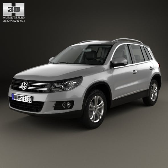 Volkswagen Tiguan Sport & Style with HQ interior 2012 - 3DOcean Item for Sale