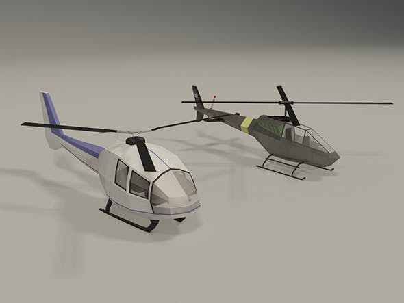 Lowpoly Helicopters - 3DOcean Item for Sale