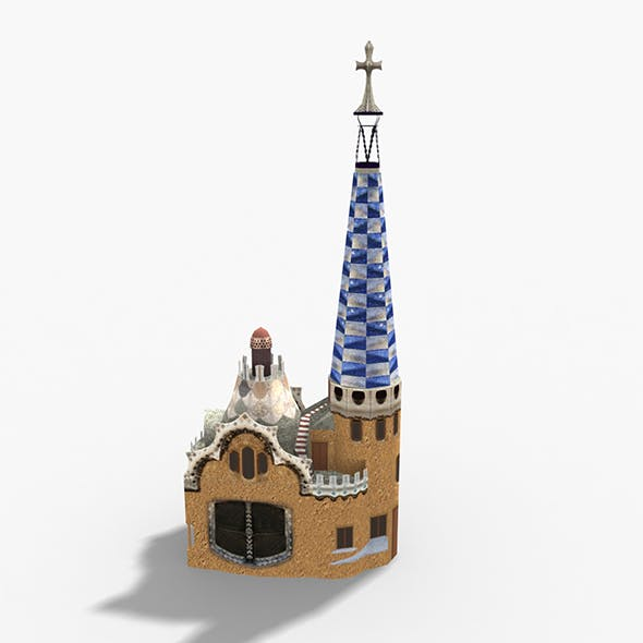 Park Guell Barcelona - 3DOcean Item for Sale