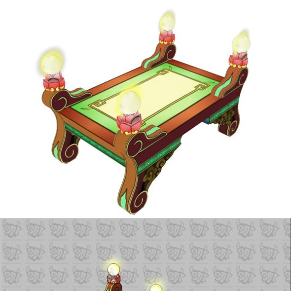 Game Model - Intra Family Objects - Coffee Table 05