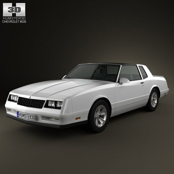 Chevrolet Monte Carlo SS 1986 - 3DOcean Item for Sale