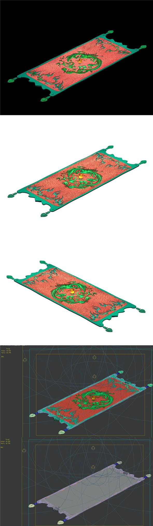 Game Models - Home Interior Objects - Carpet 02 - 3DOcean Item for Sale