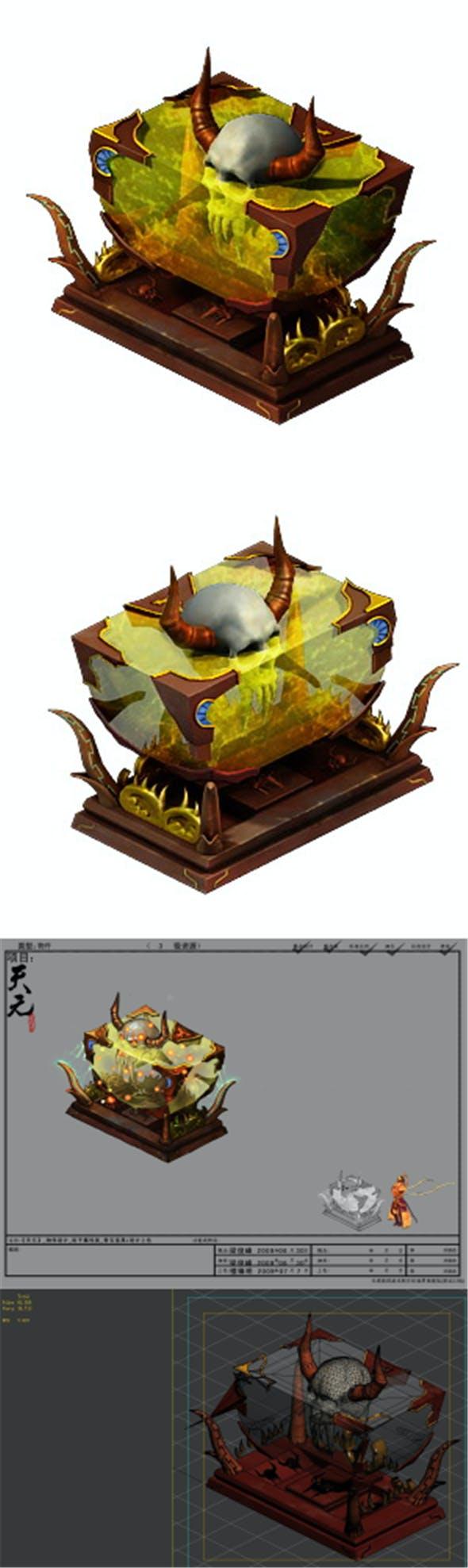 Game Model - Family Objects - Bone Ebony - 3DOcean Item for Sale