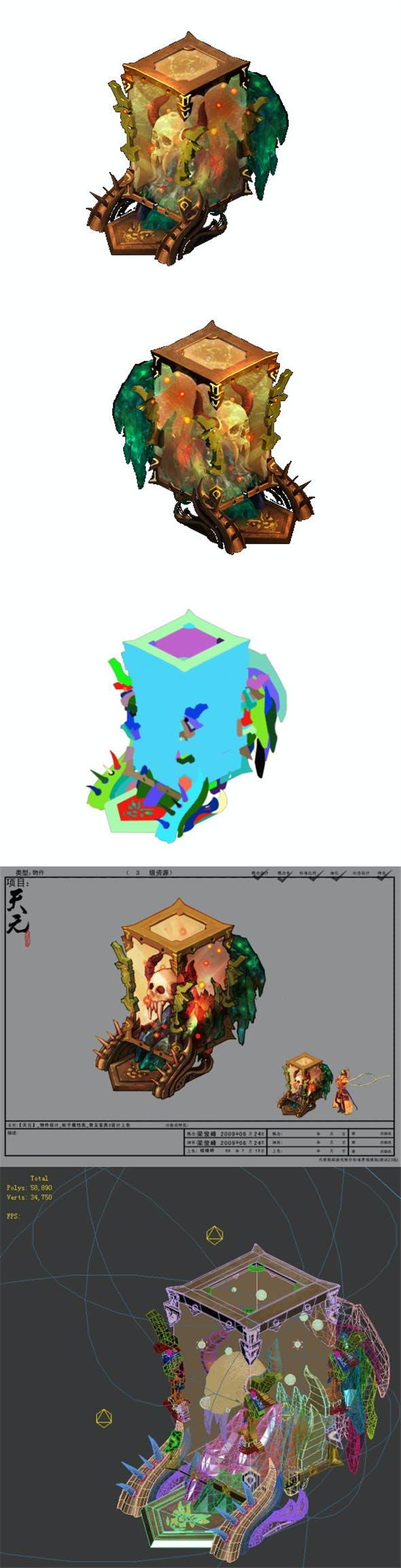 Game Model - Family Objects - Bone Ebony 3 - 3DOcean Item for Sale