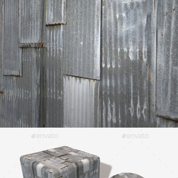 Corrugated Iron Panels Seamless Texture