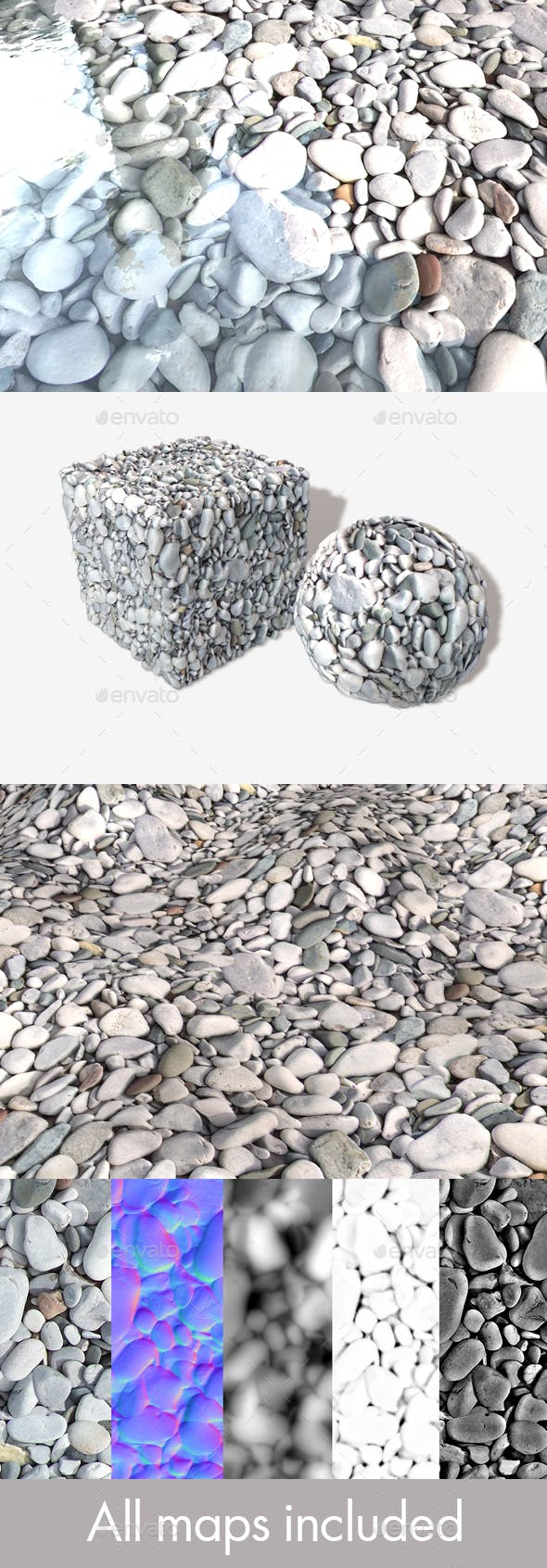 Stones Seamless Texture - 3DOcean Item for Sale