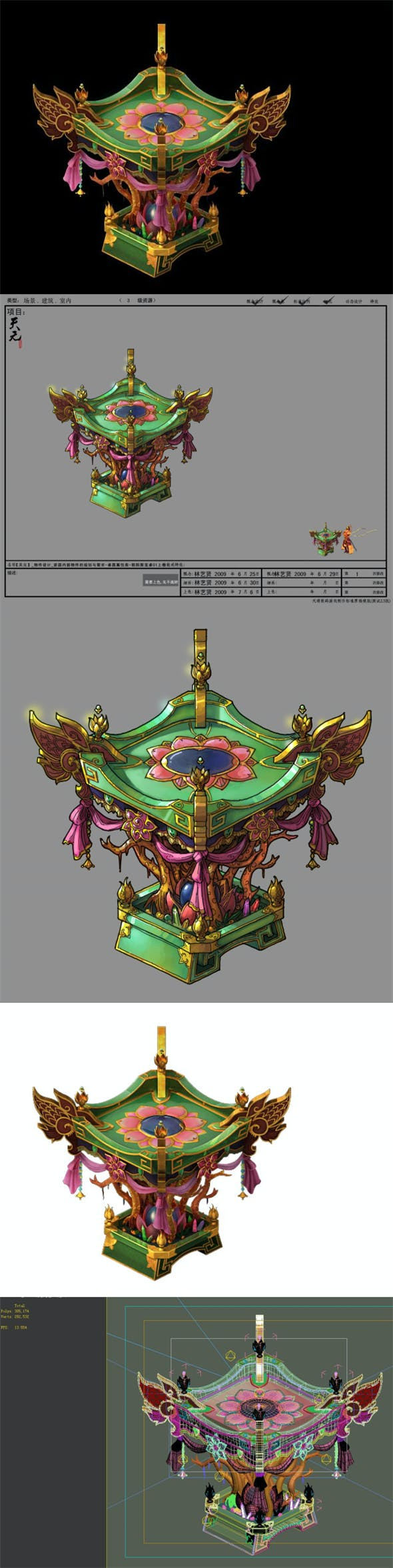 Game Model - Family Objects - Table 06 - 3DOcean Item for Sale