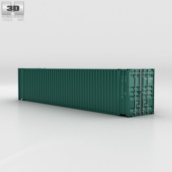 Shipping Container 45′ HC - 3DOcean Item for Sale