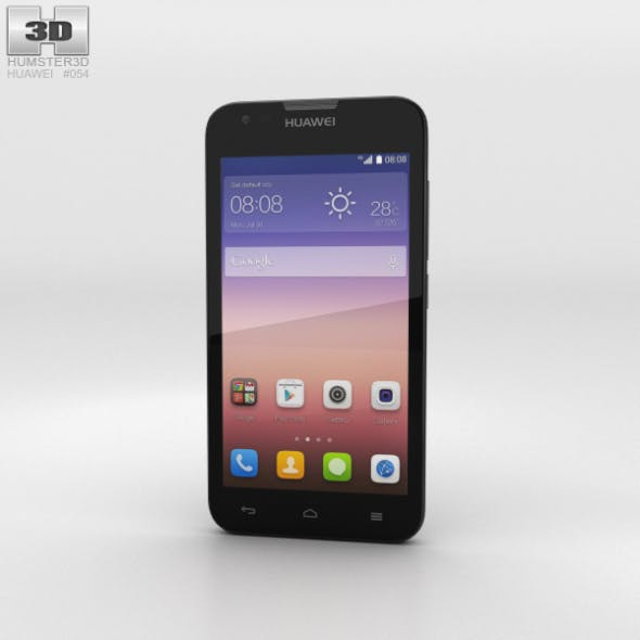 Huawei Ascend Y550 Black - 3DOcean Item for Sale