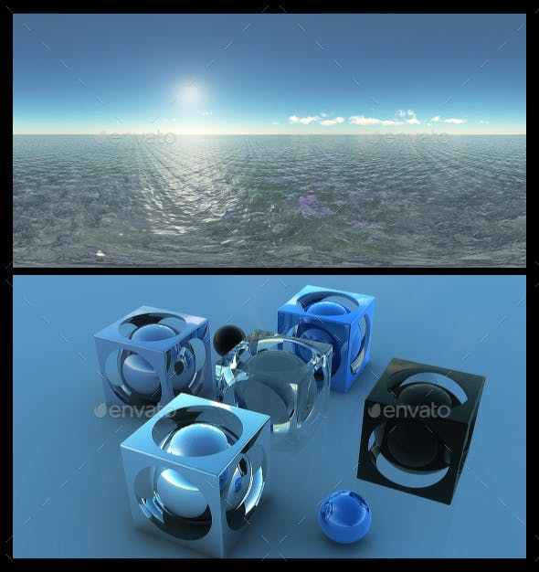 Ocean Blue Clouds 14 - HDRI - 3DOcean Item for Sale