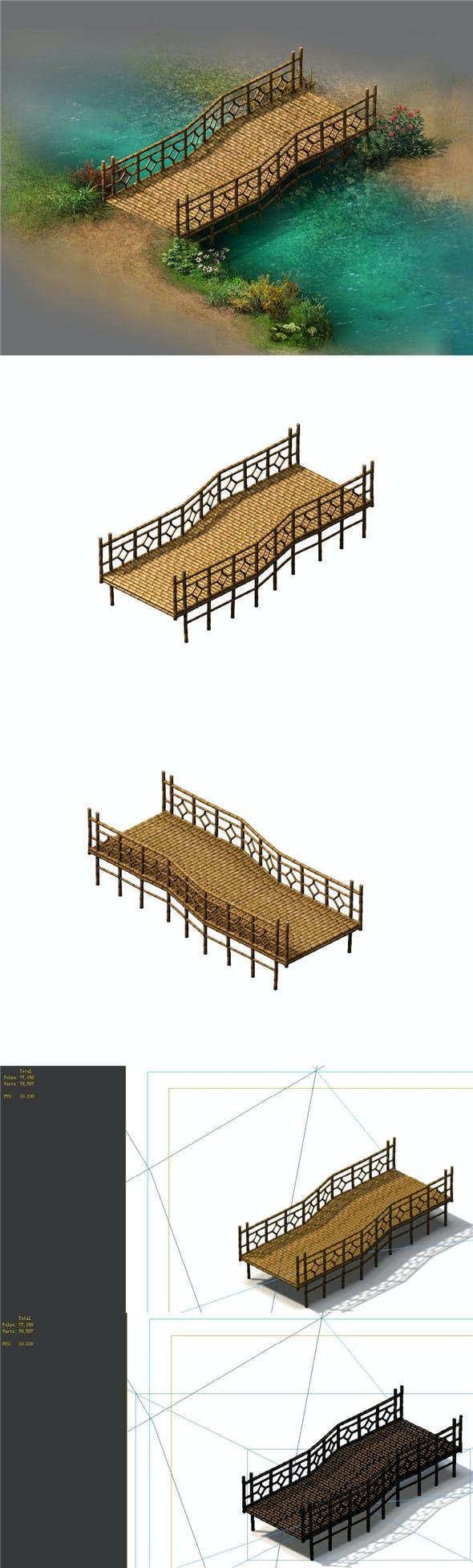 Field - Bamboo Bridge - 3DOcean Item for Sale