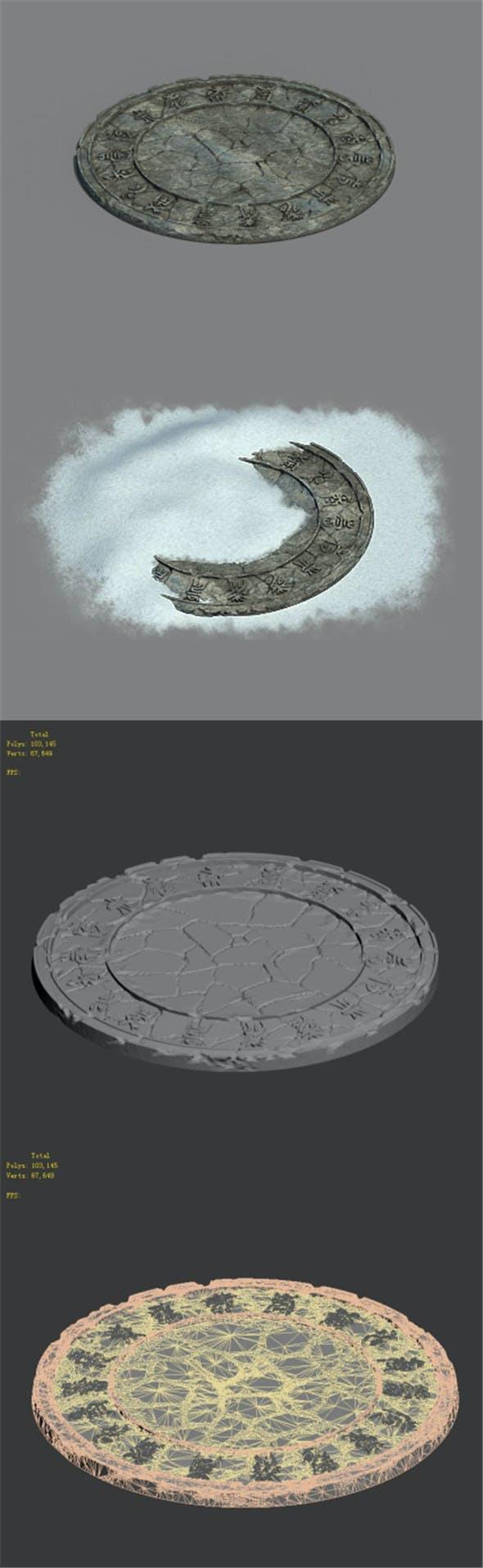 Zhaoshan - relics disc pattern - 3DOcean Item for Sale