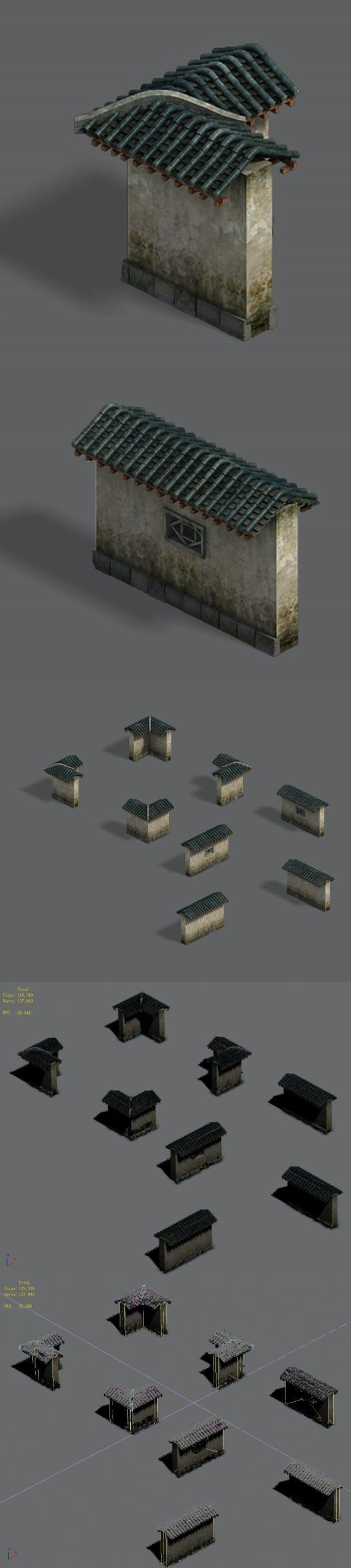 Medium city - wall - 3DOcean Item for Sale