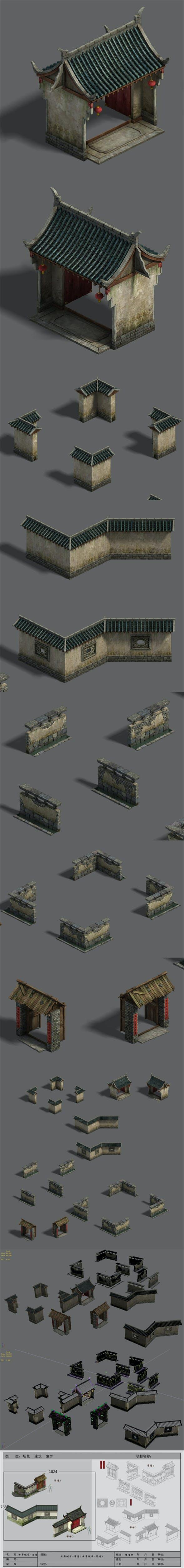 Medium City - Wall 02 - 3DOcean Item for Sale