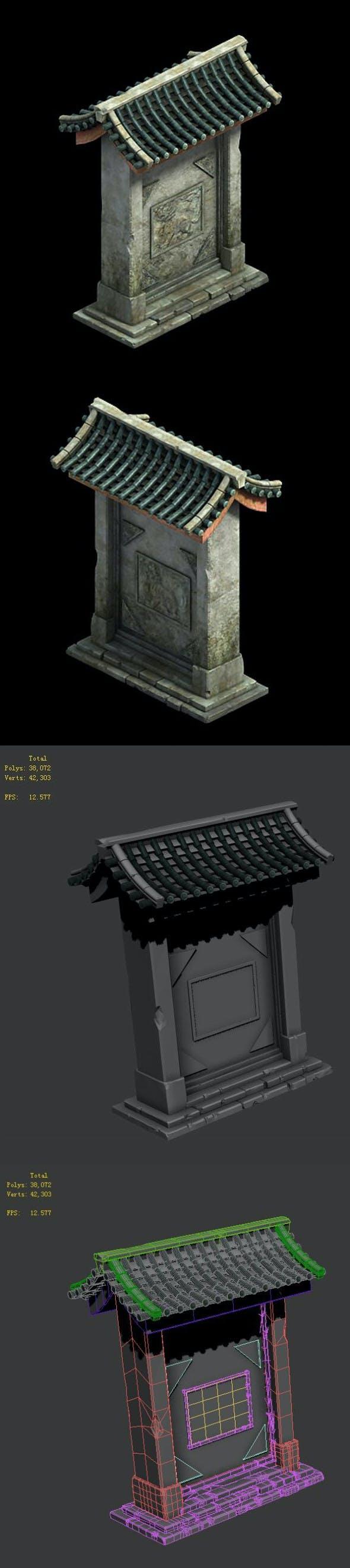 Medium city - entrance - 3DOcean Item for Sale