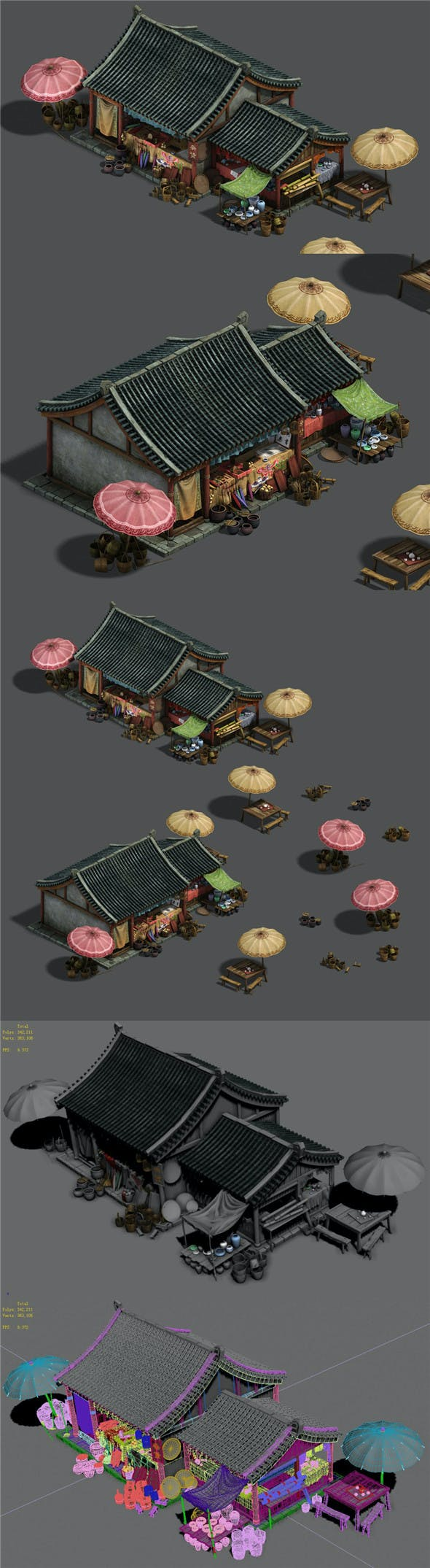 Medium city - grocery store - 3DOcean Item for Sale