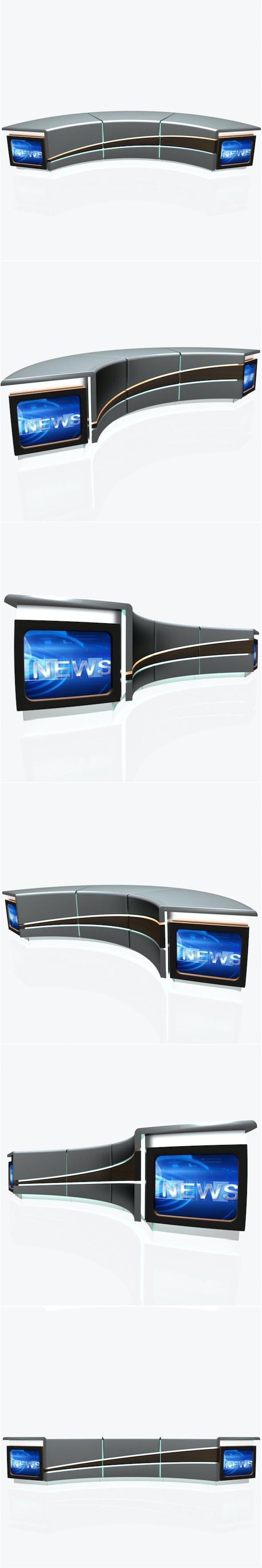 Tv Studio News Desk 004 - 3DOcean Item for Sale