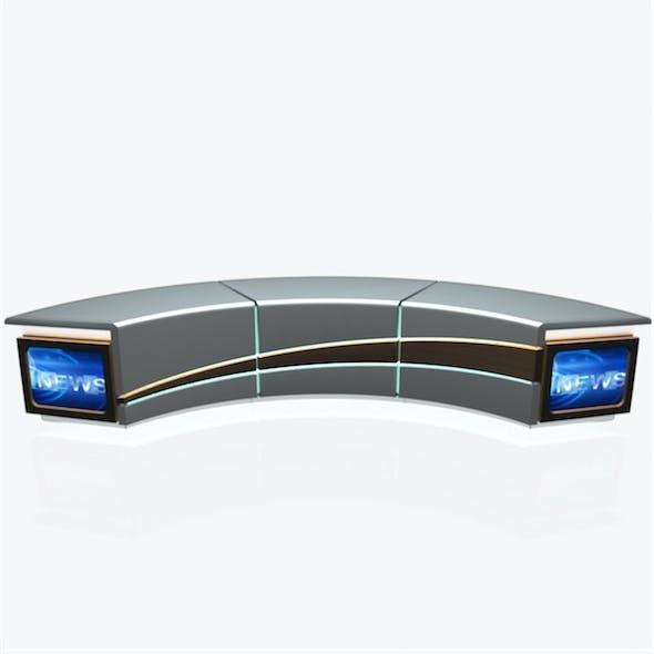 Tv Studio News Desk 004