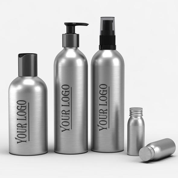 Cosmetic Aluminum Bottles model - 3DOcean Item for Sale