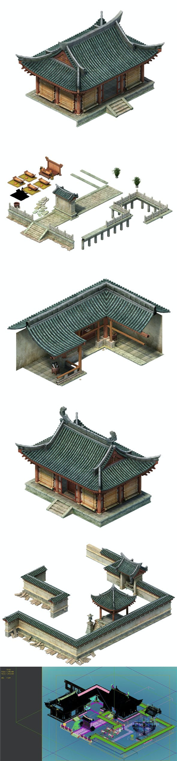 Ancient Chinese Private Schools - 3DOcean Item for Sale