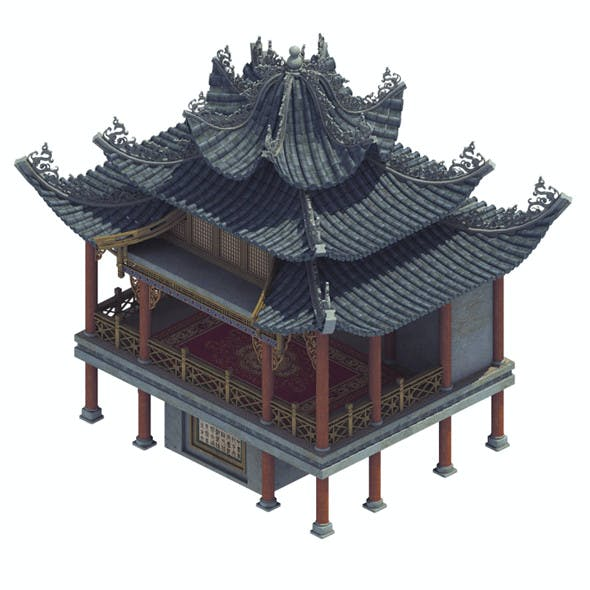 Ancient Chinese - Cultural Building - Theater House