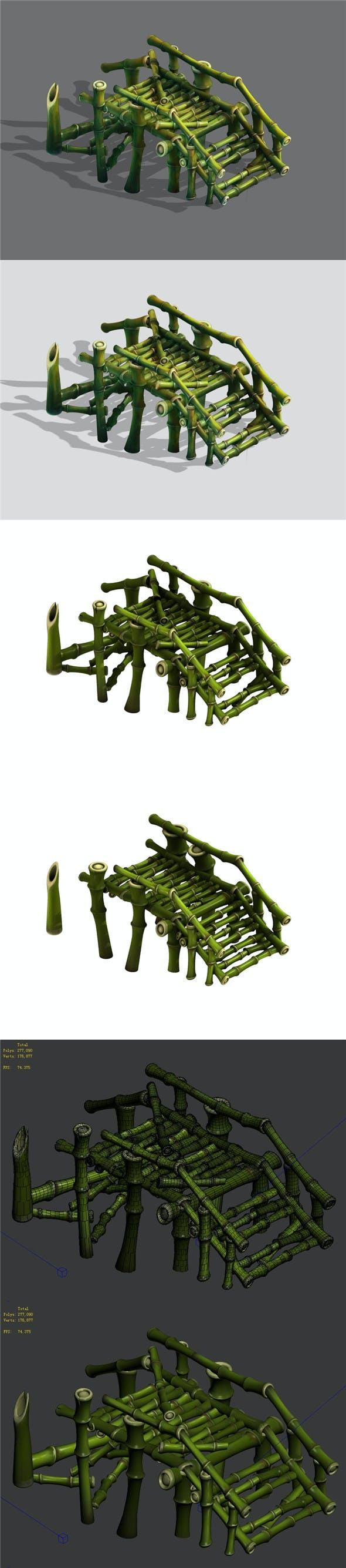 Bamboo - broken bridge - 3DOcean Item for Sale