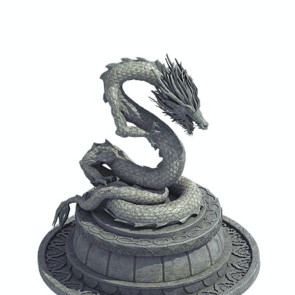 Decorative stone - dragon 09