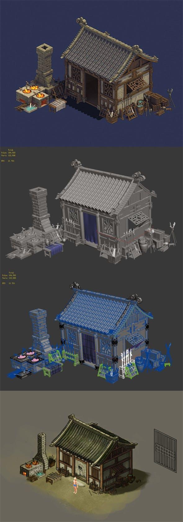 Gang - weapon blacksmith shop 01 - 3DOcean Item for Sale