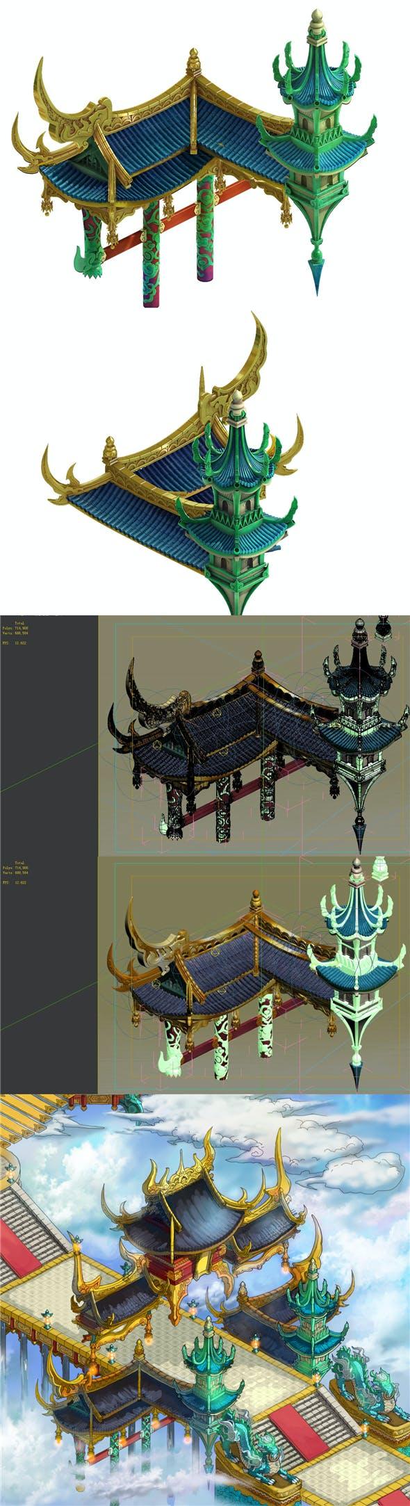 Game model - Bi La City - Royal palace part - 3DOcean Item for Sale