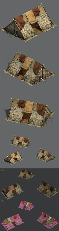 Barracks - soldiers tents - 3DOcean Item for Sale