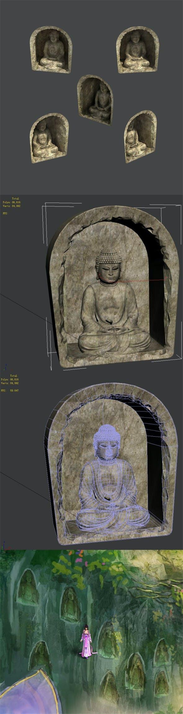 Zen - Wall Buddha - 3DOcean Item for Sale