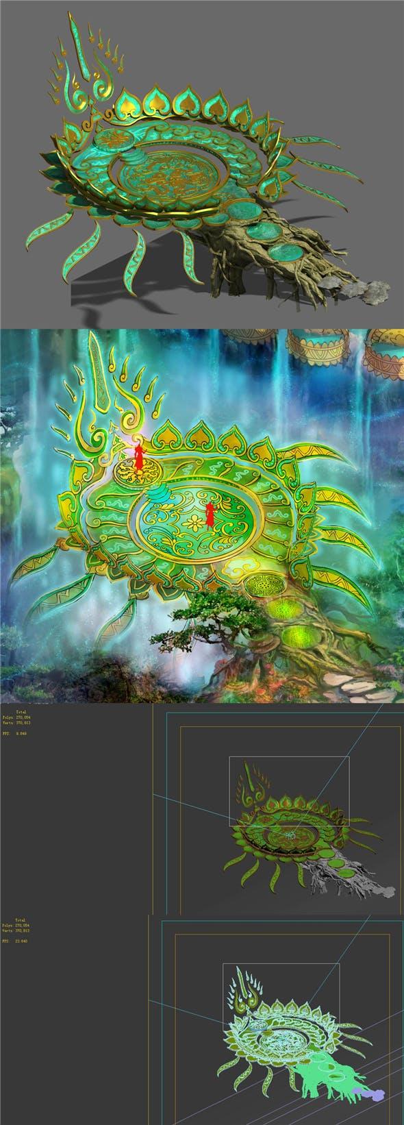 Zen - Lotus - 3DOcean Item for Sale