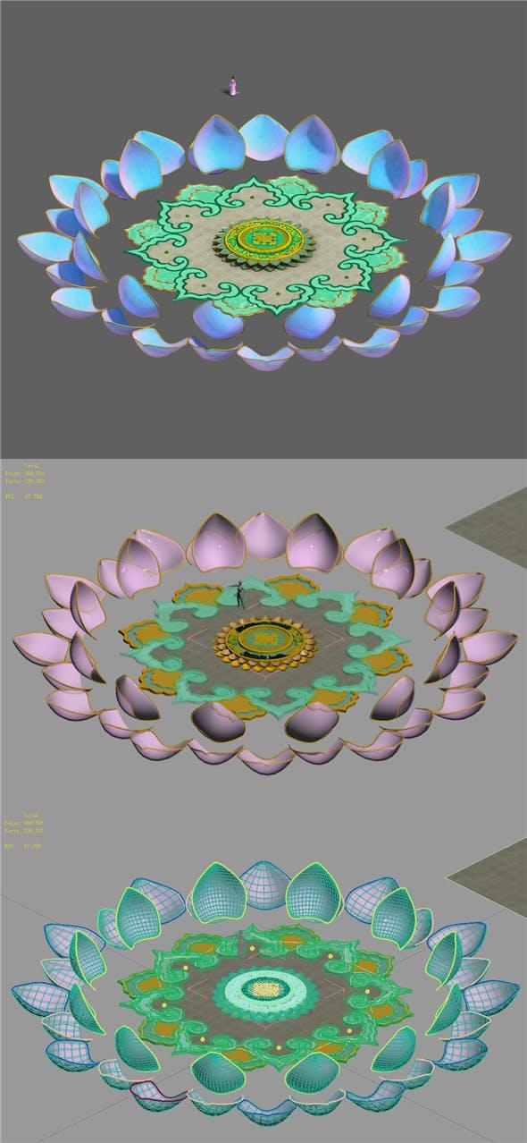 Zen - Center Square - 3DOcean Item for Sale