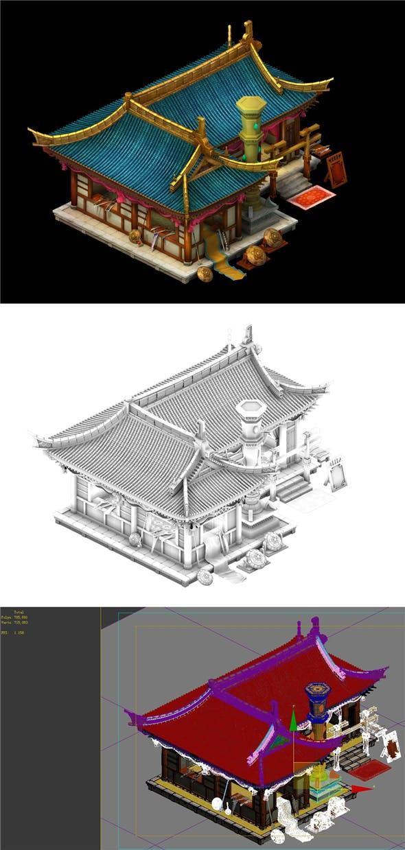 Game Model - Urban construction gem mosaic shop - 3DOcean Item for Sale
