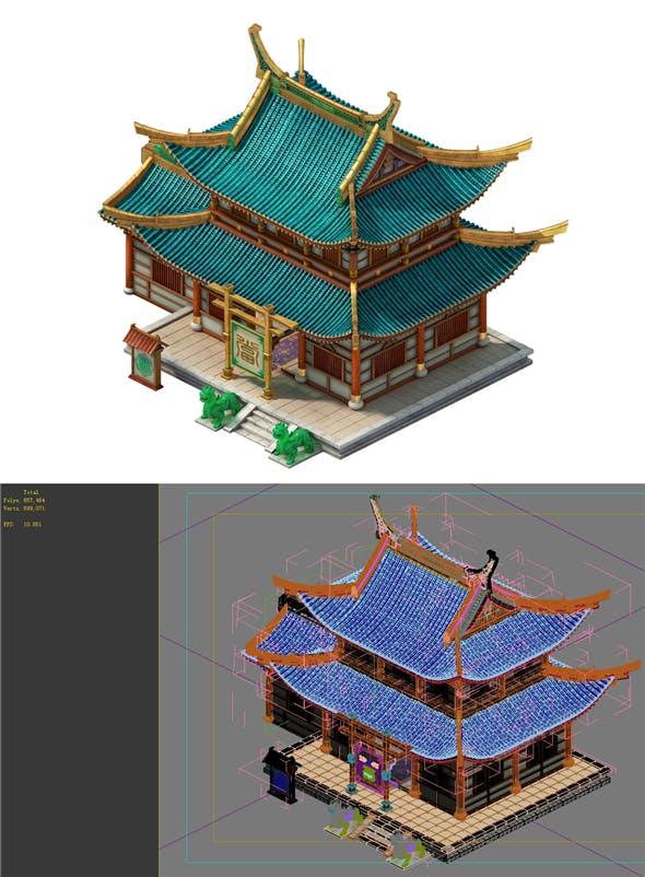 Game Model - City Building - Pawn Shop - 3DOcean Item for Sale