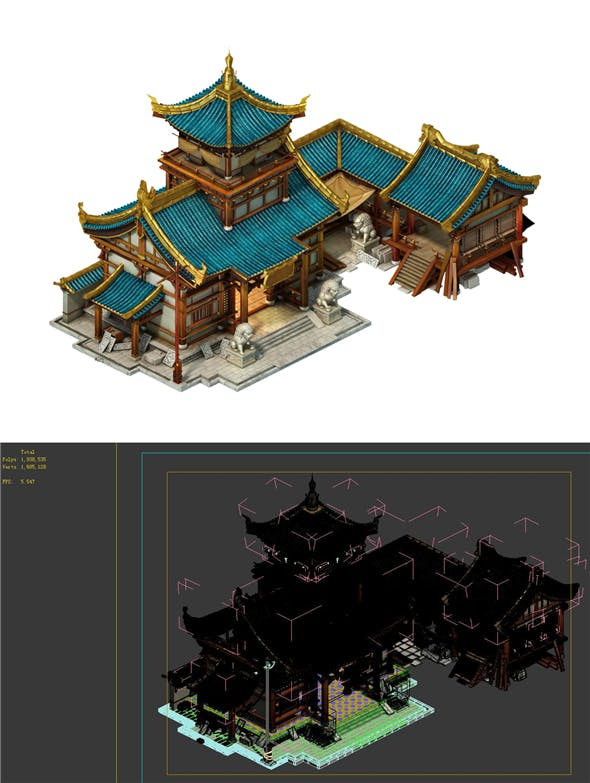 Game model - city building - building materials shop - 3DOcean Item for Sale