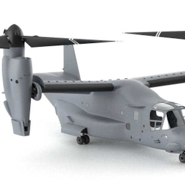 Bell Boeing Osprey High Poly Model