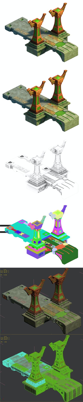 City Building - Small Stone Bridge - 3DOcean Item for Sale
