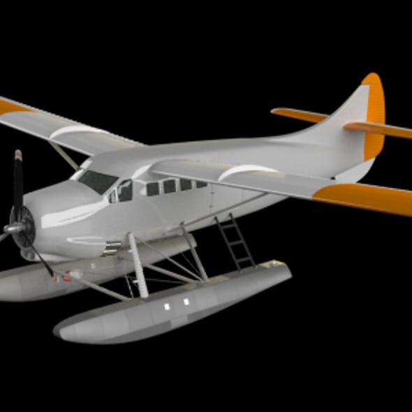 Seaplane / Float Plane High-Poly