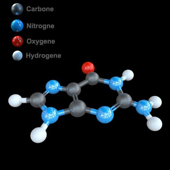 DNA  Guanine - Nucleobase 3D model - 3DOcean Item for Sale