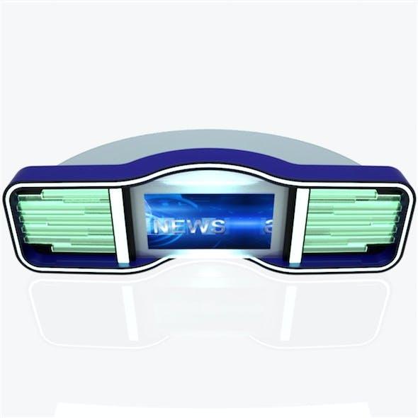 Virtual Tv Studio News Desk 5