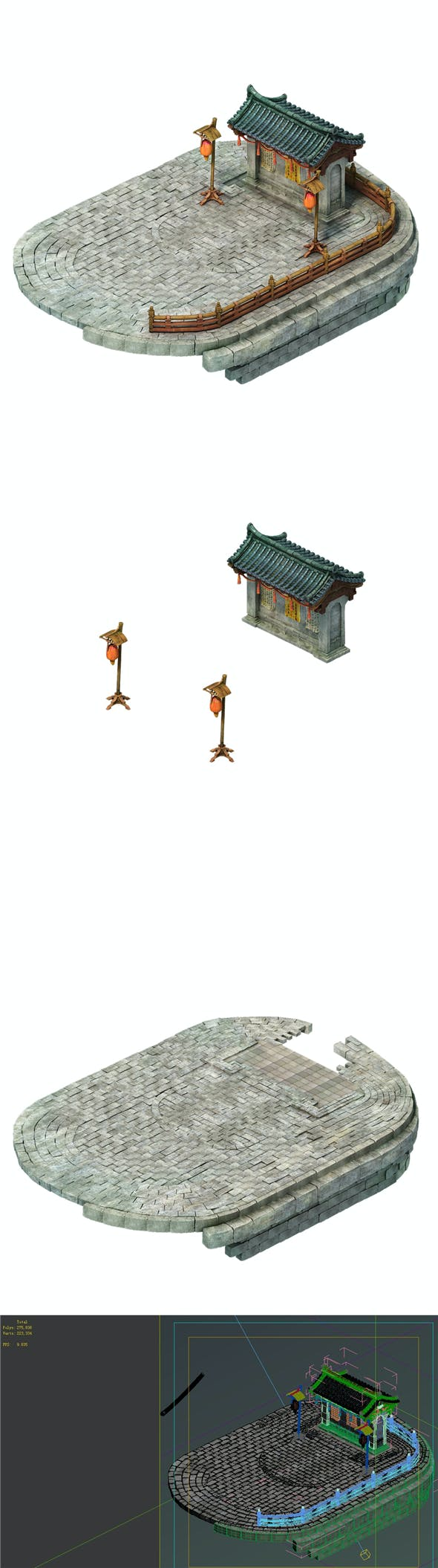 Game Model - City Wangbangwen posted at - 3DOcean Item for Sale