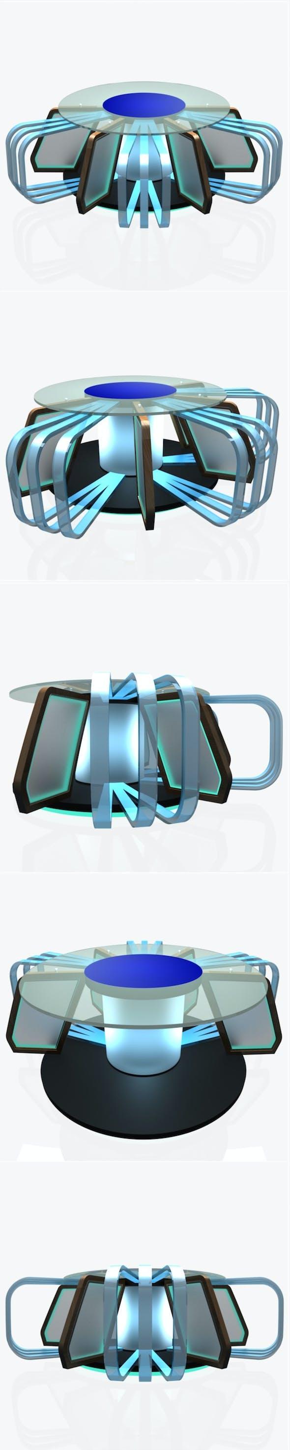 Virtual Tv Studio News Desk 7 - 3DOcean Item for Sale