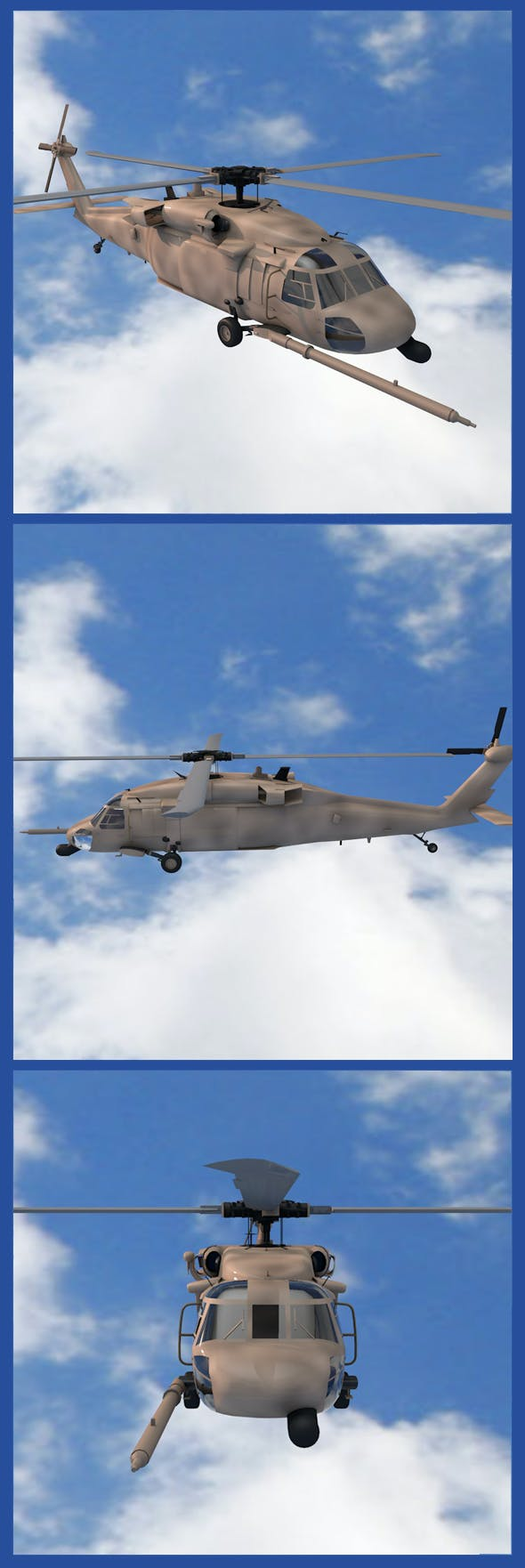 MH-60G Helicopter - 3DOcean Item for Sale