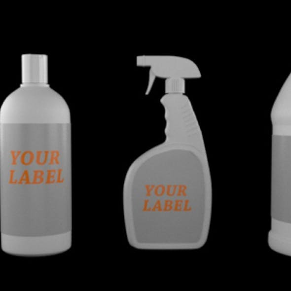 Plastic Bottles and Containers with Label PACK